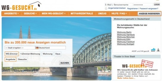 th WGgesucht 546x273 ドイツでアパートまたは部屋を探す方法