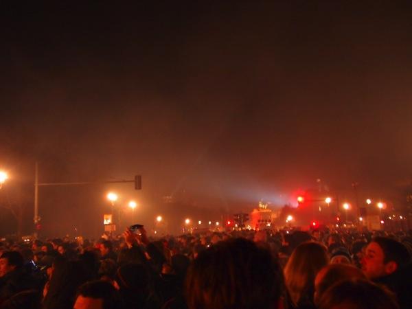 P1012892 ロケット花火で命の危機!年末にベルリンのカウントダウンに参加してみた!