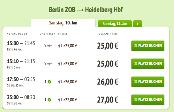 2 select 快適で便利!ドイツ旅行にはバスの利用が格安でおすすめ!