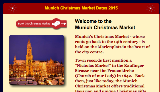 Munich christmaspage ドイツ・クリスマスマーケットの場所がすぐ分かる!クリスマスマップが便利!