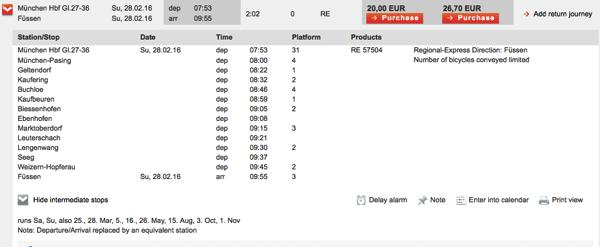 DB intermediate list 日本から予約可能!DBドイツ鉄道の切符をネットで購入する方法