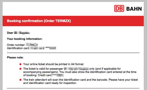 db booking mail 日本から予約可能!DBドイツ鉄道の切符をネットで購入する方法