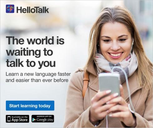hellotalk 491x409 外国人と出会える?ハロートークの評判どう?1ヶ月使ってみた結果