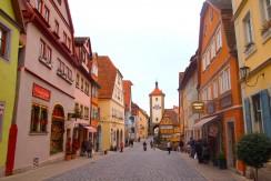 中世の風景が残る南ドイツの街ローテンブルク