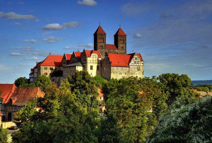 Schlossberg Stiftskirche Schloss 空中庭園!?ドイツの世界遺産クヴェードリンブルクに行ってみた!