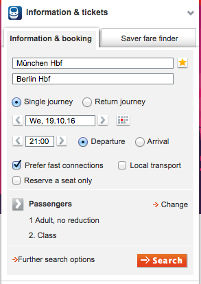 DB serch 旅行に便利!ドイツの夜行列車をネットから予約する方法!