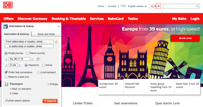 DBmainEn 690x365 旅行に便利!ドイツの夜行列車をネットから予約する方法!