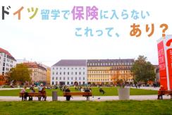 ドイツ留学で保険に入らないはあり?迷わず保険に入るべき理由