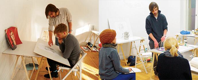 atelierHY lesson2 ドイツ美大受験のベルリン美術教室AtelierHY+とは?オンラインコース実施中