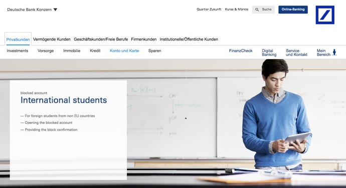 DeutscheBank web ドイツ学生ビザ取得に必須!閉鎖口座とは?3つの開設方法と残高証明書取得までの流れ
