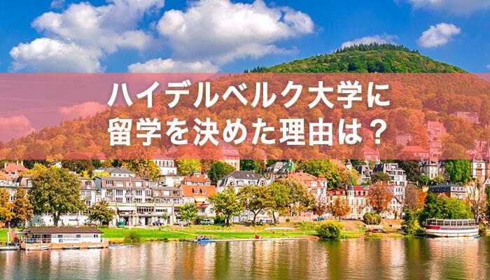 reason heidelberguni enter なぜイギリスではなくドイツ?ハイデルベルク大学に留学を決めた理由