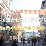 ドイツの大学で勉強できるハイデルベルク大学のドイツ言語学とは?
