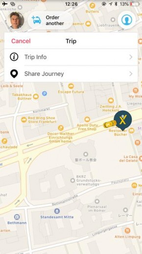 Mytaxi fix 290x516 Uber使えない!ドイツで簡単にタクシーを呼べるアプリ『Mytaxi』を使ってみた!